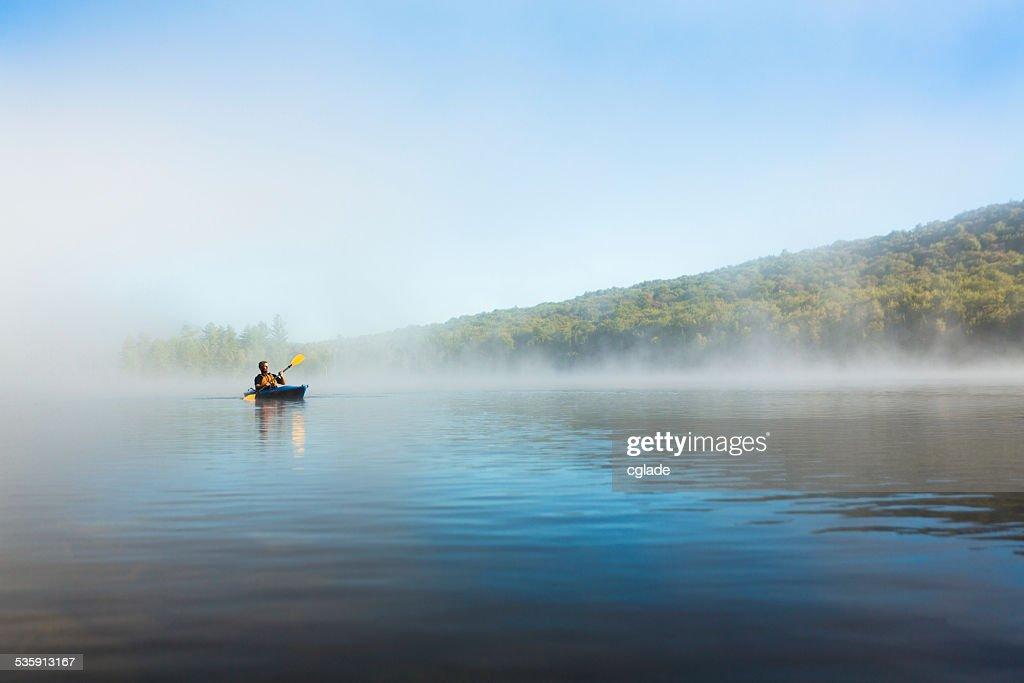 Kayaking in Wilderness Landsape : Stock Photo