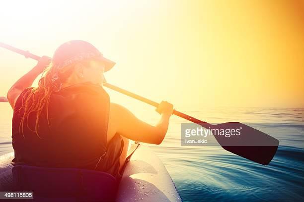 Kajakfahren auf dem Meer