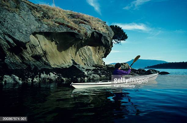 Kayaking, Sucia Island, San Juan Islands, Washington, USA