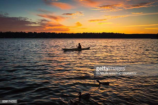 Kayaking with ducks