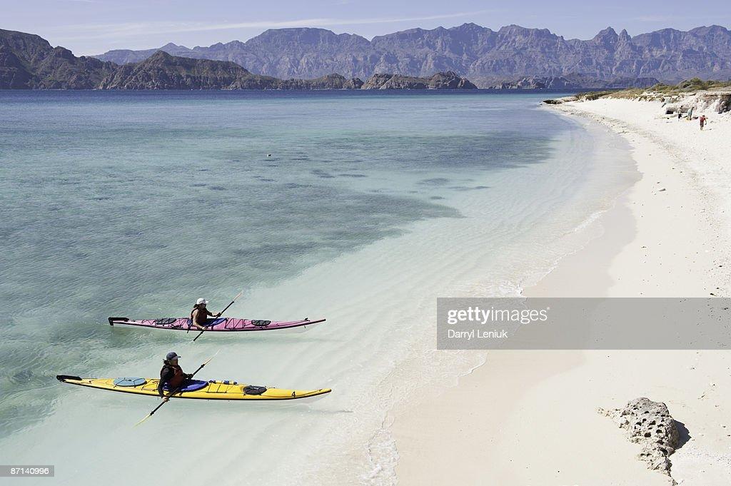 kayaks and lagoon