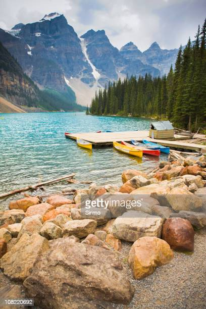 Kayaks at Moraine Lake