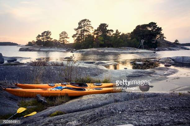 kayaks in the archipelago