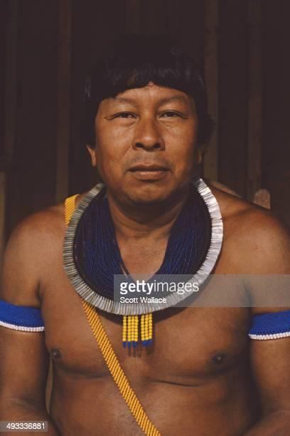 A Kayapo man in the Amazon Basin Brazil 1992