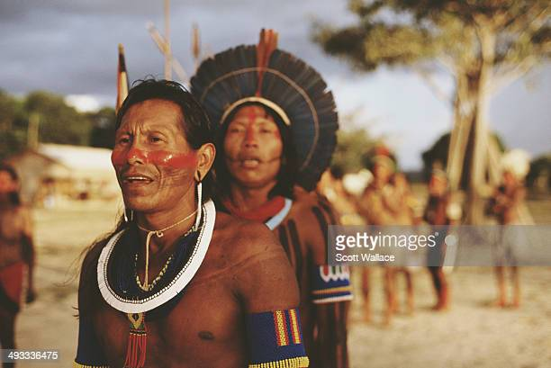 Kayapo people in the Amazon Basin Brazil 2002
