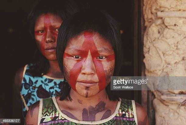 Kayapo women in the Amazon Basin Brazil 1992