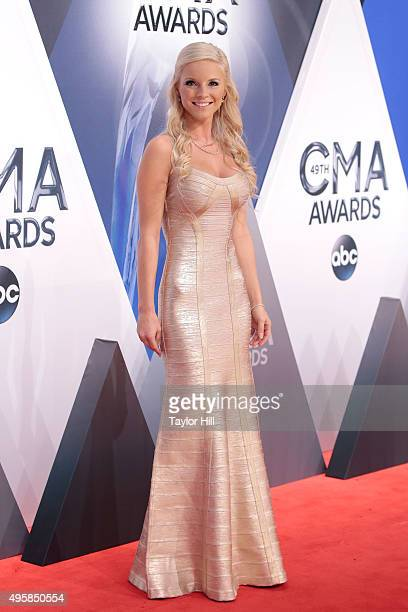 Kayla Adams attends the 49th annual CMA Awards at the Bridgestone Arena on November 4 2015 in Nashville Tennessee