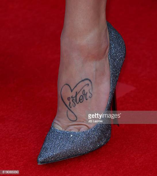 Kayla Adams tattoo details attends the 51st Academy of Country Music Awards at MGM Grand Garden Arena on April 3 2016 in Las Vegas Nevada