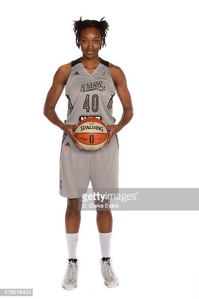 Kayla Alexander of the San Antonio Stars poses for a portrait during Media Day at the Freeman Coliseum on May 26 2015 in San Antonio Texas NOTE TO...