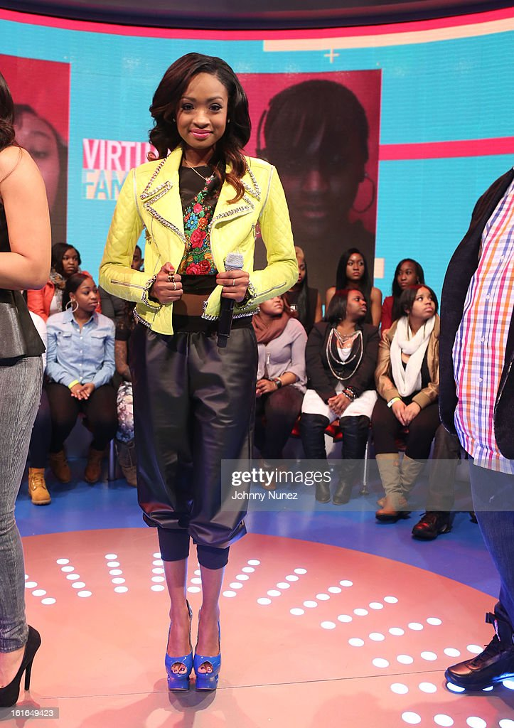 Kayla Brianna Smith visits BET's '106 & Park' at BET Studios on February 13, 2013 in New York City.