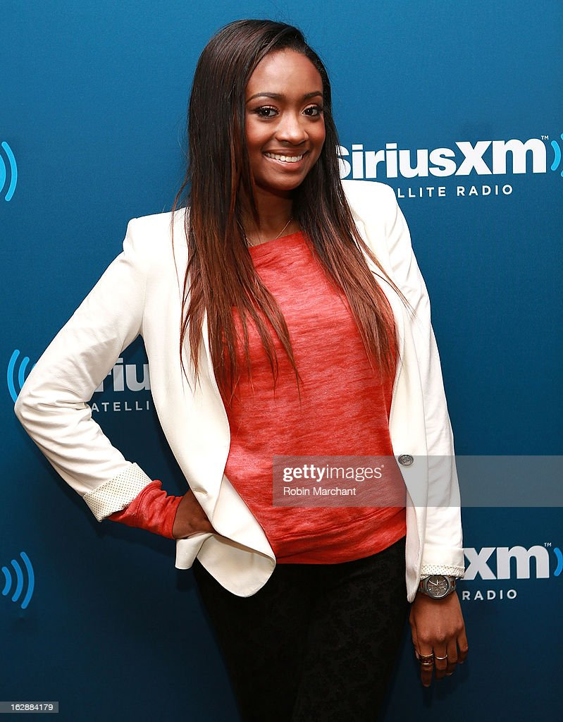 Kayla Brianna visits at SiriusXM Studios on February 28, 2013 in New York City.