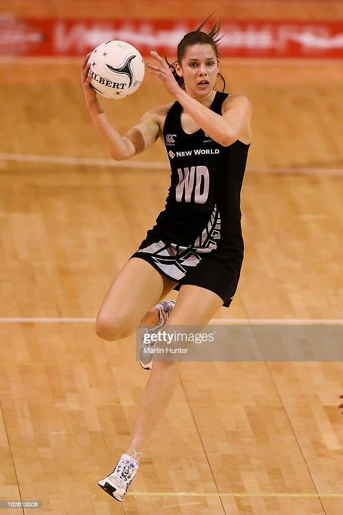 Kayla Cullen of New Zealand looks to pass during the Constellation Cup match between the New Zealand Silver Ferns and the Australian Diamonds at CBS Canterbury Arena on September 23, 2012 in Christchurch, New Zealand.