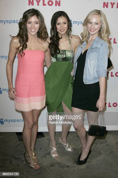 Kayla Ewell Nina Dobrev and Candice Accola attend NYLON and MYSPACE May Young Hollywood Issue Party Hosted by Kat Dennings and Olivia Thirlby at...