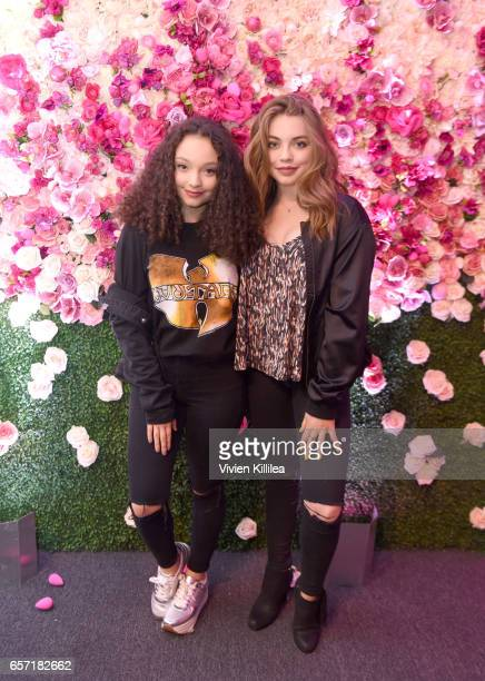 Kayla Maisonet and Alexa Sutherland attend beautyblender Cheers to 15 Years on March 23 2017 in West Hollywood California
