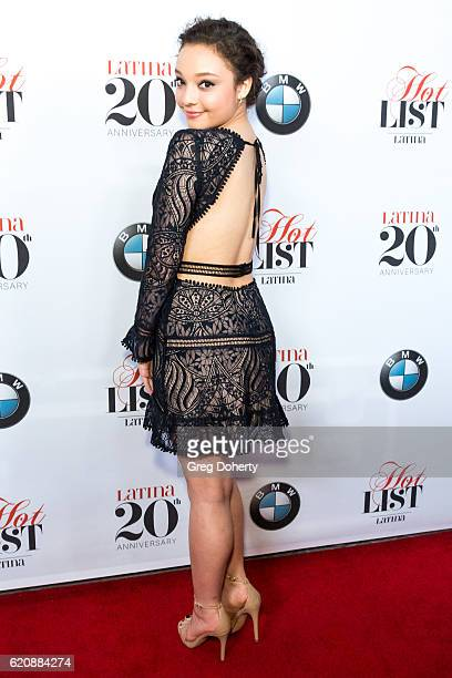 Kayla Maisonet arrivies for the Latina Magazine's 20th Anniversary Event Celebrating 'Hollywood Hot List' Honorees at STK Los Angeles on November 2...