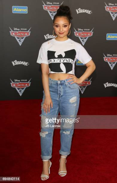 Kayla Maisonet attends the premiere of Disney and Pixar's 'Cars 3' on June 10 2017 in Anaheim California