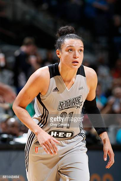 Kayla McBride of the San Antonio Stars during the game against the Atlanta Dream on May 14 2016 at ATT Center in San Antonio Texas NOTE TO USER User...