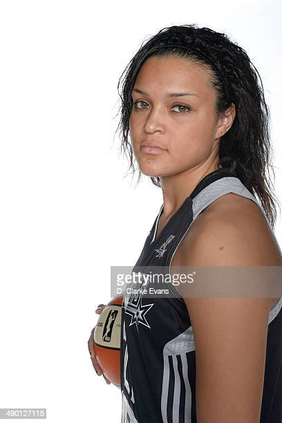 Kayla McBride of the San Antonio Stars poses for a photo during WNBA Media Day at the ATT Center on May 9 2014 in San Antonio Texas NOTE TO USER User...