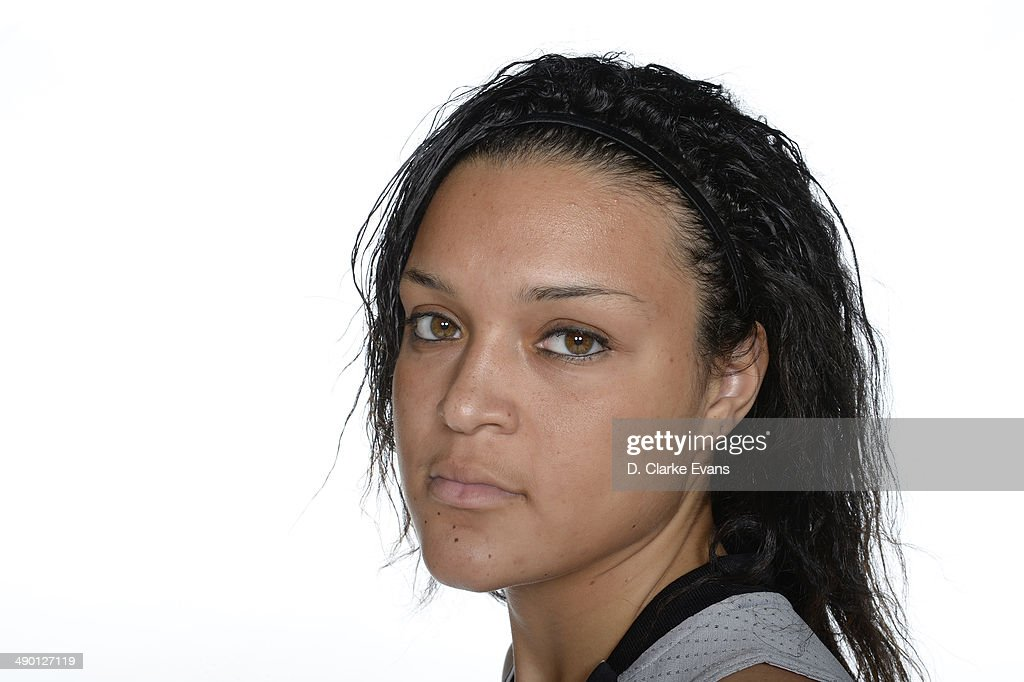 <a gi-track='captionPersonalityLinkClicked' href=/galleries/search?phrase=Kayla+McBride&family=editorial&specificpeople=9017392 ng-click='$event.stopPropagation()'>Kayla McBride</a> #21 of the San Antonio Stars poses for a photo during WNBA Media Day at the AT&T Center on May 9, 2014 in San Antonio, Texas.