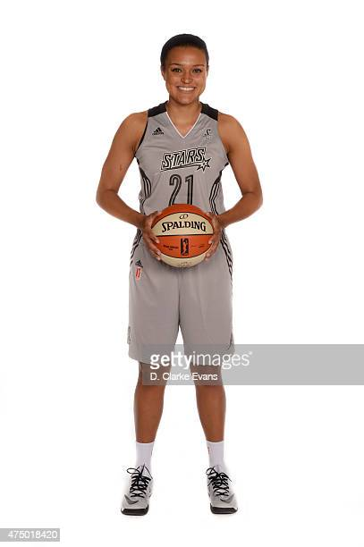 Kayla McBride of the San Antonio Stars poses for a portrait during Media Day at the Freeman Coliseum on May 26 2015 in San Antonio Texas NOTE TO USER...