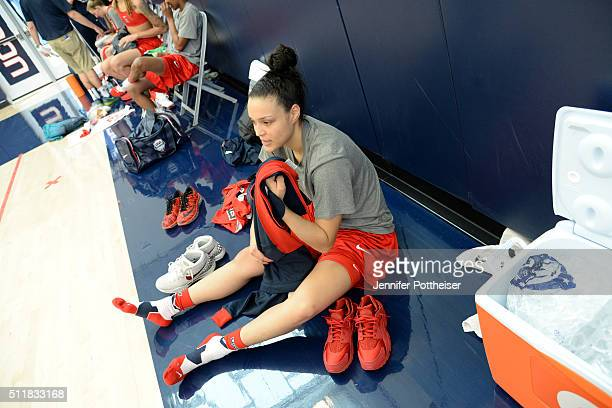 Kayla McBride of the USA Women's National Team during training camp at the University of Connecticut in Storrs Connecticut on February 22 2016 NOTE...