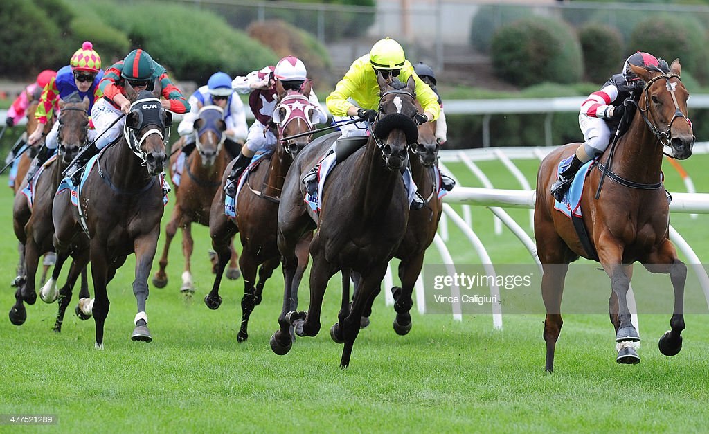 Kayla Nisbet riding Waldorf winning Race 3 the Essendon Hyundai Elantra Handicap during Melbourne Racing at Moonee Valley Racecourse on March 10 2014...
