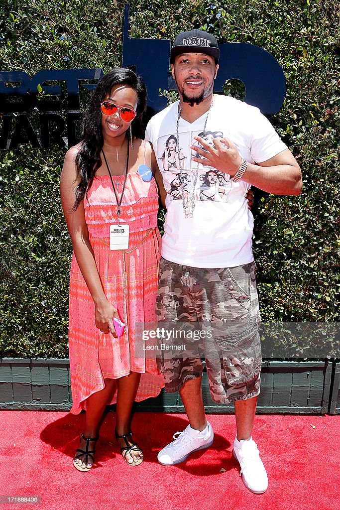 Kayla Rushing and <a gi-track='captionPersonalityLinkClicked' href=/galleries/search?phrase=Lyfe+Jennings&family=editorial&specificpeople=635206 ng-click='$event.stopPropagation()'>Lyfe Jennings</a> attends the BET & Make A Wish Foundation Recipient Kayla Rushing's Wish To Attend BET Awards Weekend at on June 28, 2013 in Los Angeles, California.