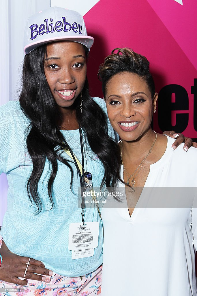 Kayla Rushing and <a gi-track='captionPersonalityLinkClicked' href=/galleries/search?phrase=MC+Lyte&family=editorial&specificpeople=226807 ng-click='$event.stopPropagation()'>MC Lyte</a> attended the BET & Make A Wish Foundation Recipient Kayla Rushing's Wish To Attend BET Awards Weekend at on June 29, 2013 in Los Angeles, California.