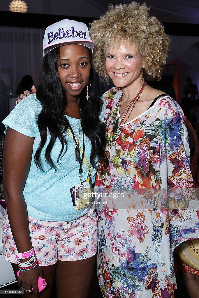 Kayla Rushing and Michaela Angela Davis attended the BET & Make A Wish Foundation Recipient Kayla Rushing's Wish To Attend BET Awards Weekend at on June 29, 2013 in Los Angeles, California.