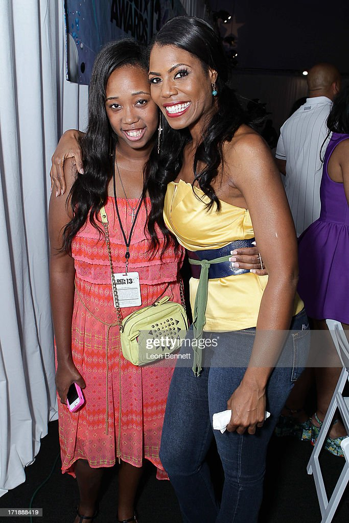 Kayla Rushing and Omarosa attends the BET & Make A Wish Foundation Recipient Kayla Rushing's Wish To Attend BET Awards Weekend at on June 28, 2013 in Los Angeles, California.