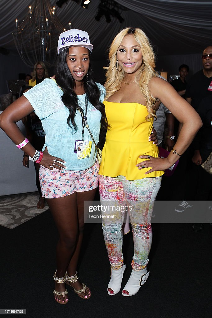 Kayla Rushing and <a gi-track='captionPersonalityLinkClicked' href=/galleries/search?phrase=Tamar+Braxton&family=editorial&specificpeople=2079619 ng-click='$event.stopPropagation()'>Tamar Braxton</a> attended the BET & Make A Wish Foundation Recipient Kayla Rushing's Wish To Attend BET Awards Weekend at on June 29, 2013 in Los Angeles, California.