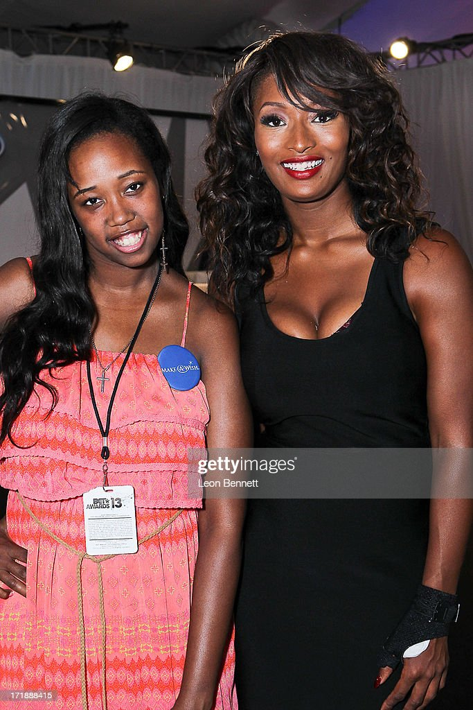 Kayla Rushing and Toccara Jones attends the BET & Make A Wish Foundation Recipient Kayla Rushing's Wish To Attend BET Awards Weekend at on June 28, 2013 in Los Angeles, California.