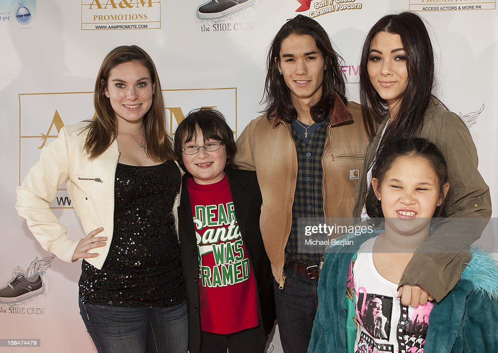 Kayla Tinucci, Matthew Jacob Wayne, <a gi-track='captionPersonalityLinkClicked' href=/galleries/search?phrase=Boo+Boo+Stewart&family=editorial&specificpeople=4357776 ng-click='$event.stopPropagation()'>Boo Boo Stewart</a>, <a gi-track='captionPersonalityLinkClicked' href=/galleries/search?phrase=Fivel+Stewart&family=editorial&specificpeople=5553784 ng-click='$event.stopPropagation()'>Fivel Stewart</a> and Sage Stewart attend 'The Shoe Crew' Holiday Launch Party & Charity Benefit at The Joint on December 15, 2012 in Los Angeles, California.