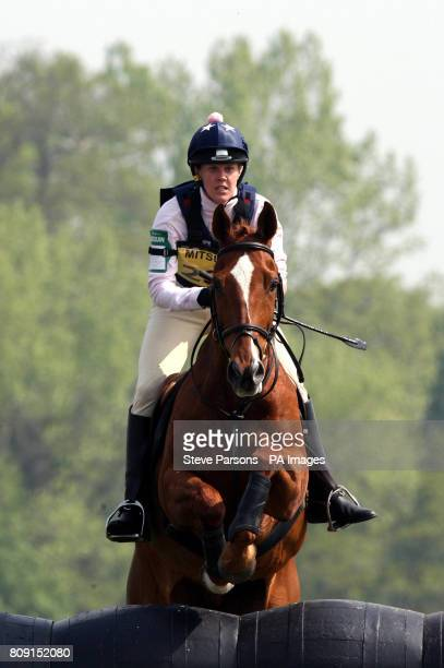 Kaylee Lemieux riding Treesmill Forways competes during day one of the Badminton Horse Trials in Badminton Gloucestershire