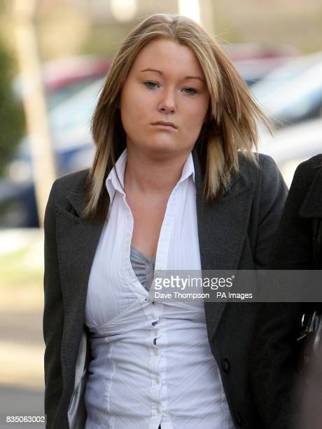 Kayleigh Ann Goodwin arrives at Burnley Crown Court where she was found guilty of death by dangerous driving after a car crash which left passenger...