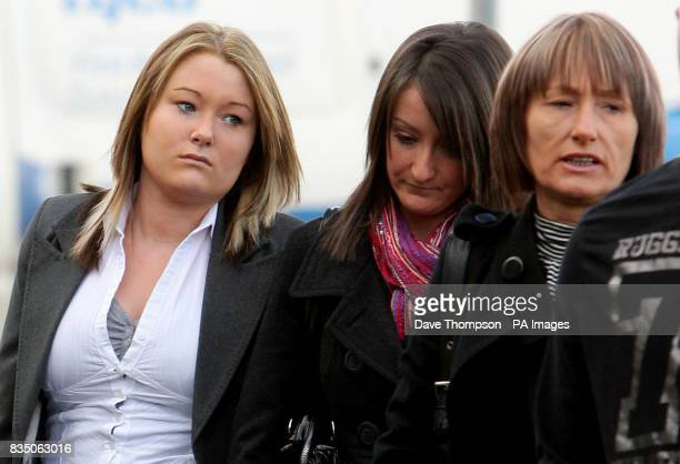 Kayleigh Ann Goodwin arrives with friends and family at Burnley Crown Court where she was found guilty of death by dangerous driving after a car...