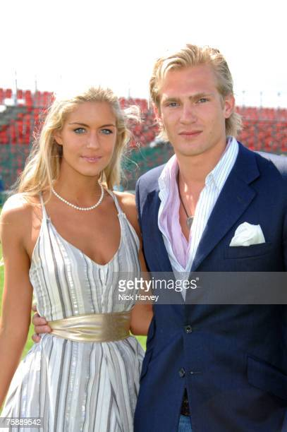 Kayleigh Curneen and Jacobi Anstruther GoughCalthorpe at the Cartier International Polo at the Guards Polo Club on July 29 2007 in Windsor England