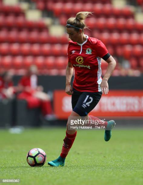 Kayleigh McDonald of Blackburn in action during the FA Women's Premier League Playoff Final between Tottenham Hotspur Ladies and Blackburn Rovers...
