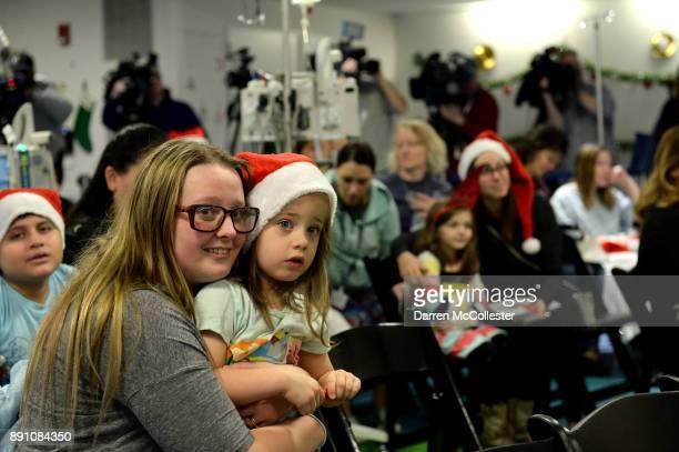 KayleighMarie and Mom attend the Boston Pops Holiday Concert at Boston Children's Hospital December 12 2017 in Boston Massachusetts