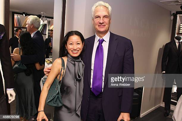 Kayley Rosenthal and Jim Rosenthal attend DuJour magazine's premier opening event Tincati Milano Concept Store on November 11 2014 in New York City