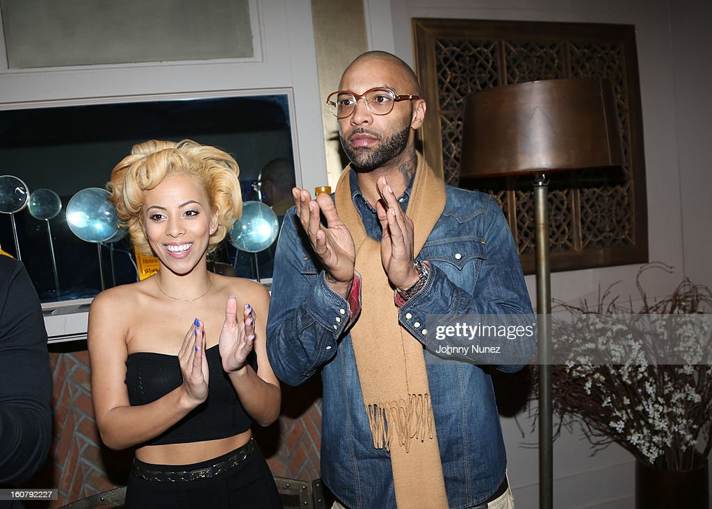 Kaylin Garcia and Joe Budden attend Joe Budden's 'No Love Lost' album release dinner at Abe & Arthur's on February 5, 2013 in New York City.