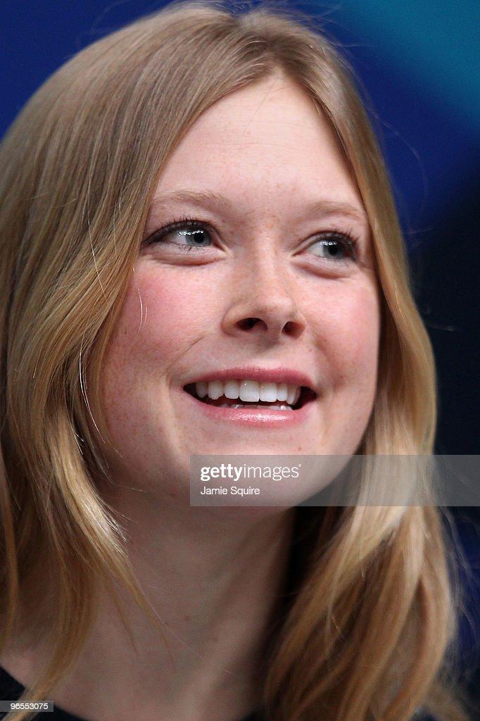 <b>Kaylin Richardson</b> speaks during United States Olympic Committee Alpine ... - kaylin-richardson-speaks-during-united-states-olympic-committee-picture-id96553075