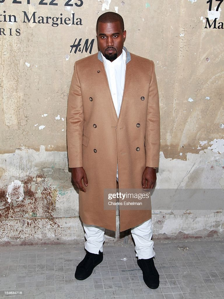 Kayne West attends the Maison Martin Margiela & H&M Global launch party at 5 Beekman on October 23, 2012 in New York City.
