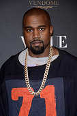 Kayne West attends the Vogue 95th Anniversary Party Photocall as part of the Paris Fashion Week Womenswear Spring/Summer 2016 on October 3 2015 in...