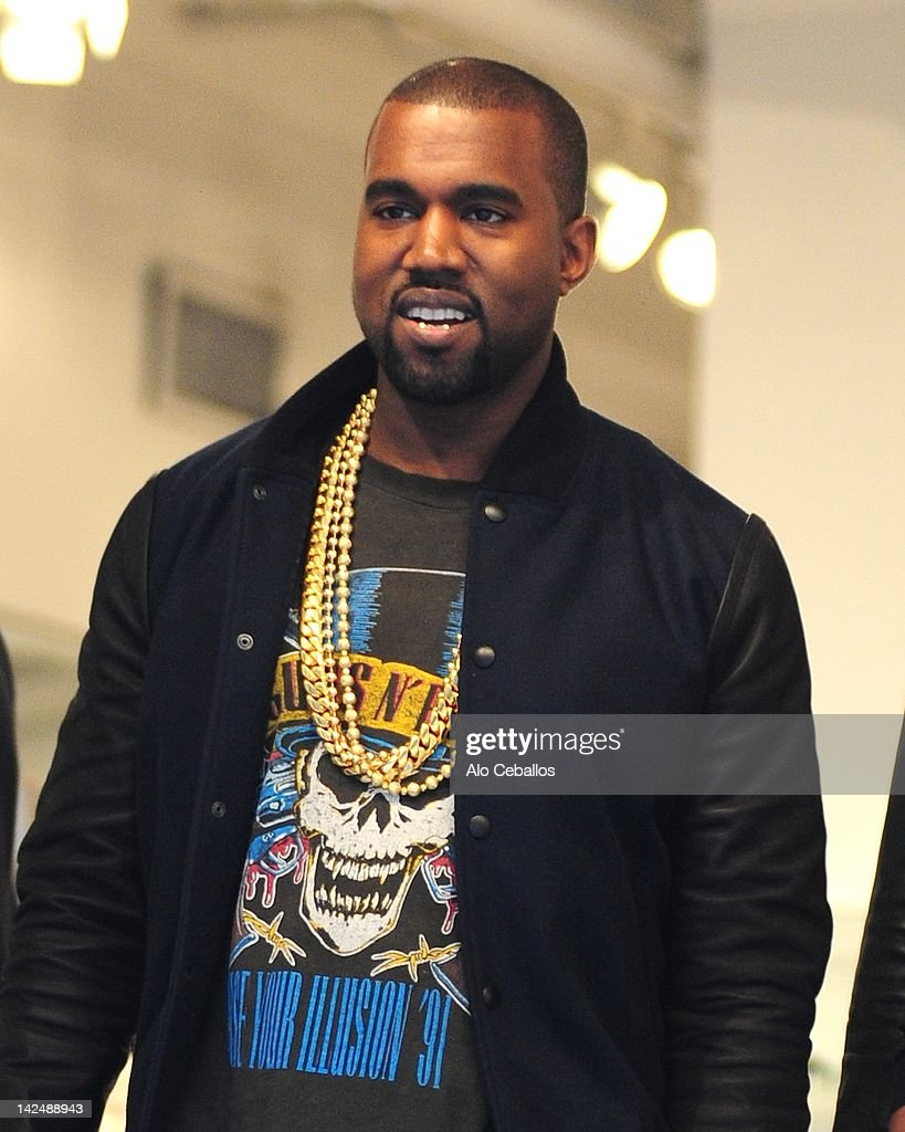 Kayne West sighting at Streets of Manhattan on April 5, 2012 in New York City.