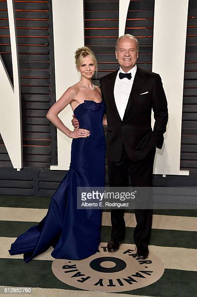 Kayte Grammer and actor Kelsey Grammer attend the 2016 Vanity Fair Oscar Party hosted By Graydon Carter at Wallis Annenberg Center for the Performing...