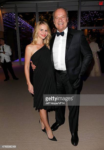 Kayte Walsh and actor Kelsey Grammer attend the 2014 Vanity Fair Oscar Party Hosted By Graydon Carter on March 2 2014 in West Hollywood California