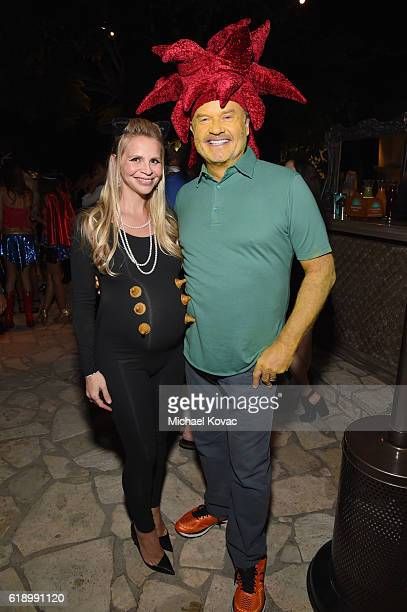 Kayte Walsh and actor Kelsey Grammer attend the Casamigos Halloween Party at a private residence on October 28 2016 in Beverly Hills California
