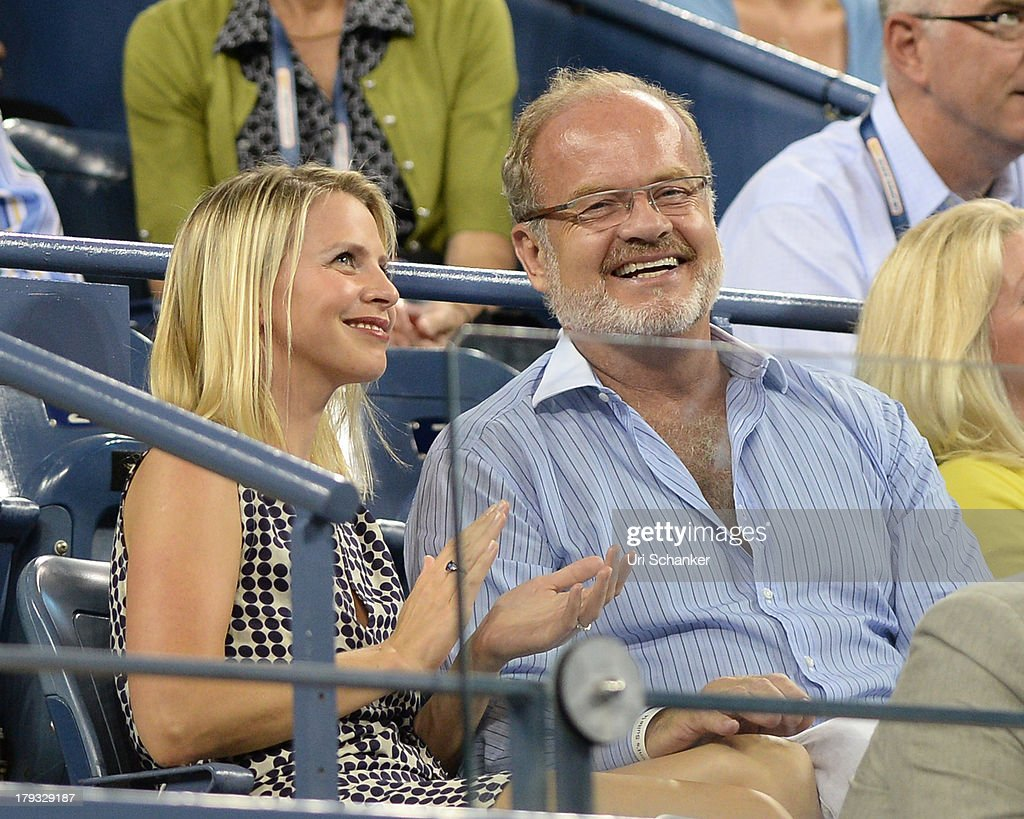 Kayte Walsh and Kelsey Grammer attend the 2013 US Open at USTA Billie Jean King National Tennis Center on September 1, 2013 in New York City.