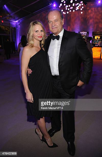 Kayte Walsh and Kelsey Grammer attend the 2014 Vanity Fair Oscar Party Hosted By Graydon Carter on March 2 2014 in West Hollywood California